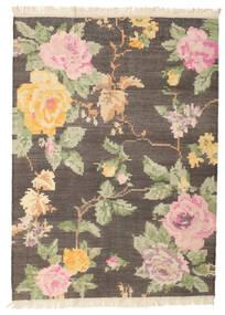 キリム カラバフ Amira - 茶 絨毯 160X230 モダン 手織り 濃い茶色/薄茶色 (ウール, インド)