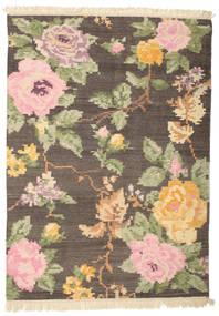 キリム カラバフ Amira - 茶 絨毯 140X200 モダン 手織り 濃い茶色/薄茶色 (ウール, インド)