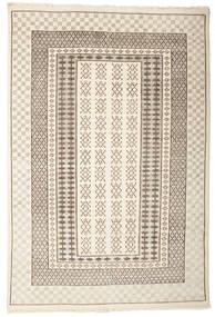 Sandor 絨毯 140X200 モダン 手織り 薄い灰色/ベージュ (ウール, インド)