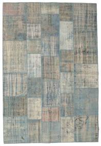 パッチワーク 絨毯 202X300 モダン 手織り 薄い灰色 (ウール, トルコ)