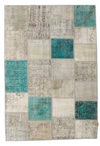 パッチワーク 絨毯 160X232 モダン 手織り 薄い灰色/ターコイズブルー (ウール, トルコ)
