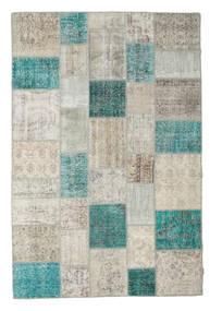パッチワーク 絨毯 202X300 モダン 手織り 薄い灰色/暗めのベージュ色の (ウール, トルコ)
