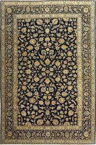 カシャン パティナ 絨毯 255X385 オリエンタル 手織り 黒/薄茶色 大きな (ウール, ペルシャ/イラン)