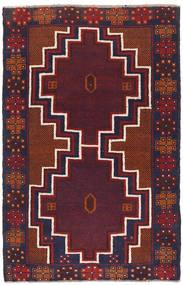 バルーチ 絨毯 82X131 オリエンタル 手織り 深紅色の/濃い紫 (ウール, アフガニスタン)