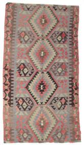 キリム セミアンティーク トルコ 絨毯 170X309 オリエンタル 手織り 濃い茶色/薄い灰色 (ウール, トルコ)