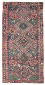 キリム セミアンティーク トルコ 絨毯 160X314 オリエンタル 手織り 濃いグレー/薄紫色 (ウール, トルコ)