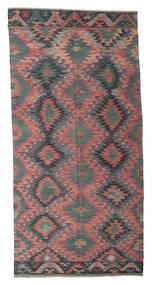 キリム セミアンティーク トルコ 絨毯 168X345 オリエンタル 手織り 濃いグレー/濃い茶色 (ウール, トルコ)