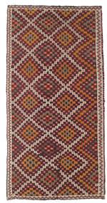 キリム セミアンティーク トルコ 絨毯 154X303 オリエンタル 手織り 薄茶色/深紅色の (ウール, トルコ)