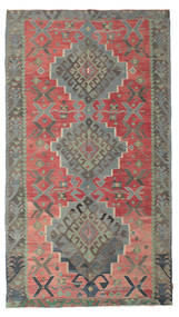 キリム セミアンティーク トルコ 絨毯 180X320 オリエンタル 手織り 濃いグレー/錆色 (ウール, トルコ)