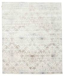 Himalaya 絨毯 242X293 モダン 手織り 薄い灰色/ベージュ (ウール/バンブーシルク, インド)
