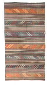 キリム セミアンティーク トルコ 絨毯 165X313 オリエンタル 手織り 濃いグレー/薄い灰色 (ウール, トルコ)