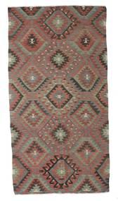キリム セミアンティーク トルコ 絨毯 159X304 オリエンタル 手織り 濃いグレー/茶 (ウール, トルコ)