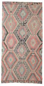 キリム セミアンティーク トルコ 絨毯 153X297 オリエンタル 手織り 薄い灰色/ライトピンク (ウール, トルコ)