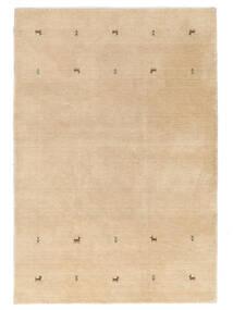ギャッベ ルーム Two Lines - ベージュ 絨毯 140X200 モダン 暗めのベージュ色の (ウール, インド)