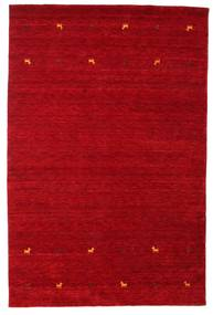 ギャッベ ルーム Two Lines - 赤 絨毯 190X290 モダン 赤/深紅色の (ウール, インド)