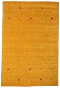 ギャッベ ルーム Two Lines - 黄色 絨毯 190X290 モダン オレンジ/薄茶色 (ウール, インド)