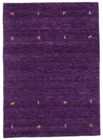 ギャッベ ルーム Two Lines - 紫 絨毯 140X200 モダン 濃い紫 (ウール, インド)