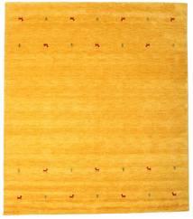 ギャッベ ルーム Two Lines - 黄色 絨毯 240X290 モダン 黄色/オレンジ (ウール, インド)