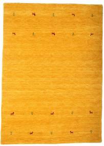 ギャッベ ルーム Two Lines - 黄色 絨毯 160X230 モダン オレンジ/薄茶色 (ウール, インド)