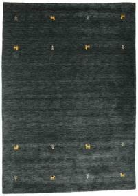 ギャッベ ルーム Two Lines - 濃いグレー/グリーン 絨毯 160X230 モダン 黒 (ウール, インド)
