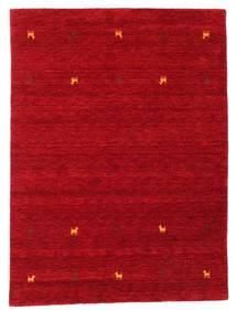 ギャッベ ルーム Two Lines - 赤 絨毯 140X200 モダン 赤/深紅色の (ウール, インド)
