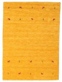 ギャッベ ルーム Two Lines - 黄色 絨毯 140X200 モダン オレンジ (ウール, インド)