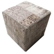 パッチワーク Stool Ottoman 絨毯 50X50 オリエンタル 手織り 正方形 薄い灰色/濃いグレー (ウール, トルコ)