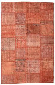 パッチワーク 絨毯 195X302 モダン 手織り 赤/薄茶色 (ウール, トルコ)