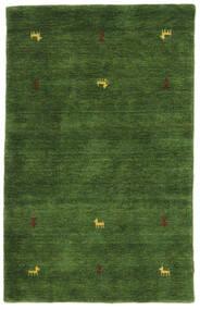 ギャッベ ルーム Two Lines - グリーン 絨毯 100X160 モダン 深緑色の (ウール, インド)