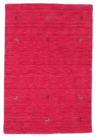 ギャッベ ルーム Two Lines - Cerise 絨毯 100X160 モダン 赤/ピンク (ウール, インド)