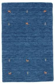 ギャッベ ルーム Two Lines - 青 絨毯 100X160 モダン 紺色の/青 (ウール, インド)
