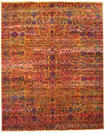 Sari ピュア シルク 絨毯 240X300 モダン 手織り 深紅色の/赤 (絹, インド)