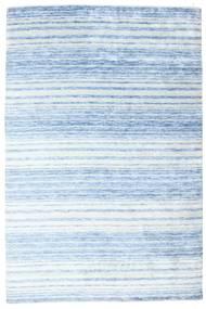 Bamboo シルク ハンドルーム 絨毯 202X304 モダン 手織り 水色/ベージュ ( インド)