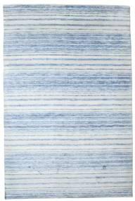 Bamboo シルク ハンドルーム 絨毯 201X303 モダン 手織り 水色/ベージュ ( インド)