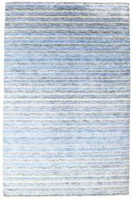 Bamboo シルク ハンドルーム 絨毯 200X304 モダン 手織り 水色/ベージュ ( インド)