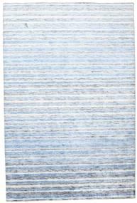 Bamboo シルク ハンドルーム 絨毯 202X304 モダン 手織り ベージュ/水色 ( インド)
