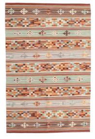キリム Anatolian 絨毯 100X160 モダン 手織り 深紅色の/薄い灰色 (ウール, インド)