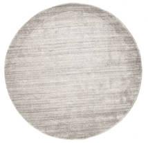 Bamboo シルク ルーム - Warm グレー 絨毯 Ø 150 モダン ラウンド 薄い灰色 ( インド)