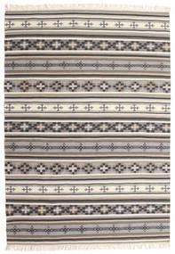 キリム Cizre 絨毯 160X230 モダン 手織り 薄い灰色/ベージュ (ウール, インド)