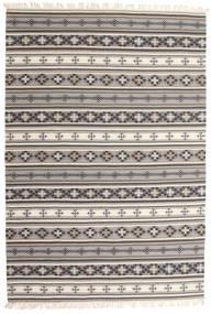 キリム Cizre 絨毯 190X290 モダン 手織り 薄い灰色/茶 (ウール, インド)