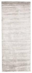 Bamboo シルク ルーム - Warm グレー 絨毯 80X200 モダン 廊下 カーペット 薄い灰色/ホワイト/クリーム色 ( インド)