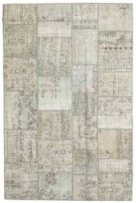 パッチワーク 絨毯 199X302 モダン 手織り 薄い灰色/暗めのベージュ色の (ウール, トルコ)