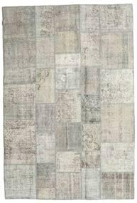 パッチワーク 絨毯 204X300 モダン 手織り 薄い灰色/暗めのベージュ色の (ウール, トルコ)