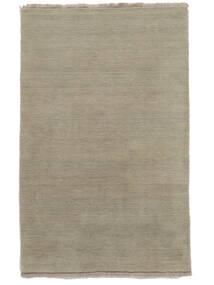 ハンドルーム Fringes - Greige 絨毯 140X200 モダン 薄い灰色 (ウール, インド)