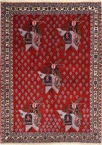 アフシャル/Sirjan 絨毯 160X218 オリエンタル 手織り 濃い茶色/錆色/深紅色の (ウール, ペルシャ/イラン)
