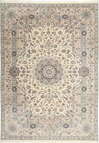 ナイン 6La Habibian 絨毯 242X348 オリエンタル 手織り 薄い灰色/ベージュ (ウール/絹, ペルシャ/イラン)