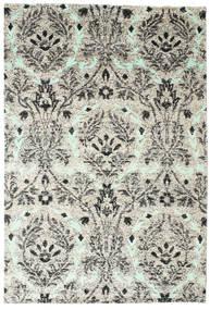 Lennox 絨毯 190X290 モダン 手織り 薄い灰色/ホワイト/クリーム色 (絹, インド)