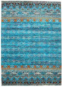 Quito - ターコイズ 絨毯 240X340 モダン 手織り ターコイズブルー/薄い灰色 (絹, インド)