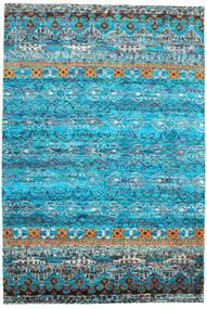 Quito - ターコイズ 絨毯 190X290 モダン 手織り ターコイズブルー/青 (絹, インド)