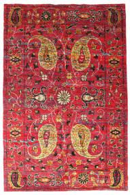 Vega Sari シルク 絨毯 200X300 モダン 手織り 赤/錆色 (絹, インド)